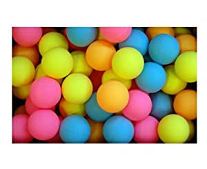 Schildkrot 144 balles d'entraînement de tennis de table en couleur Rose/Jaune/Orange