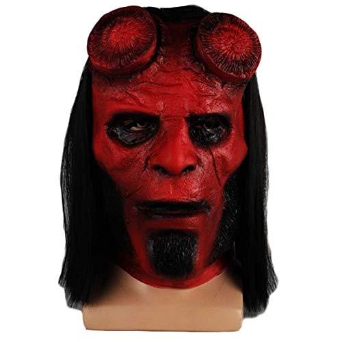 QQWE Hellboy Cosplay Maske Filmspiel Rollenspiel Requisiten Halloween Weihnachten Bühne Performance Maske Latex (Erwachsenen Hellboy Kostüme)