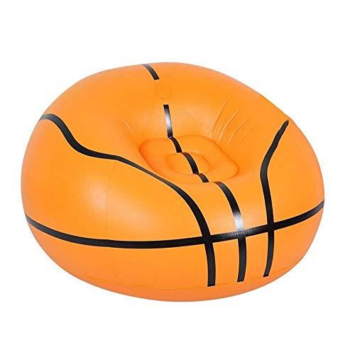 Bean Bag Sitzsack Erwachsene Faule Schlafcouch Aufblasbare Hitzebeständige Anti-Fouling-Outdoor-Raum Geeignet Für Spiele (Pattern : Basketball) -
