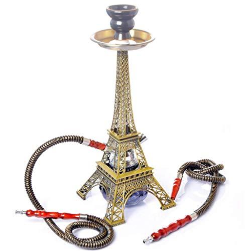 Conjunto Pipas De Agua, Manguera De 16 Pulgadas 2 Torre Eiffel Metal Modelo Hookah Set...