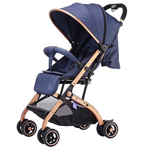 WYX-Stroller Kinderwagen Leichte Falten Ultra Light Cart High Landscape Kleinkinder Kinderwagen Tragbare Kinderwagen Reise Kinderwagen Für Neugeborene,Blue - Lite Cart