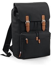 Bag base - sac à dos compartiment ordinateur portable - 18L - BG613 - VINTAGE LAPTOP BACKPACK - coloris noir