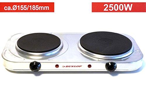 Doppelkochplatte✅⭐⭐⭐⭐⭐✅HERDPLATTE 2500WATT elektrisch Doppel-Kochplatte/Elektrokochplatte/Elektro Kochplatte/Mobile Herdplatte/Elektrische Kochplatte/Kochplatte Camping/Kochfeld