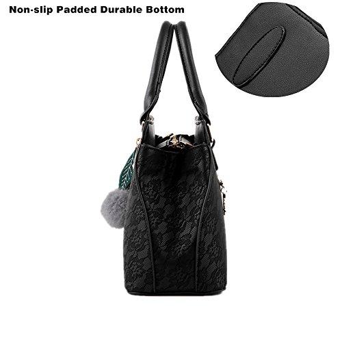 Borsa a Mano Spalla Tracolla Donna Elegante Pelle Nera Bianca Grigio Borsetta Scuola Lavoro Viaggio Grigio