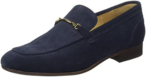 H by Hudson Hombre Navarre Slip On Shoes, Azul