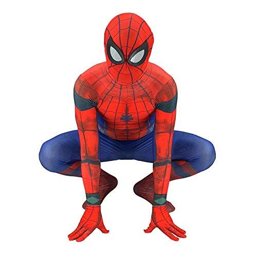 nd Erwachsener Cosplay Kostüm Superhelden Halloween Onesies Mottoparty Karneval 3D Druck Spandex Strumpfhosen,Redadults-M ()