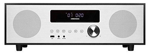 MEDION LIFE X64400 CD-Mikroanlage mit Bluetooth 2.1 & DAB+ (MP3-Audio, CD Player, USB) schwarz