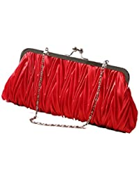 Red : Culater®New Fashion Women Brilliant Small Purse Hasp Wallets Mini Evening Bag (Red)