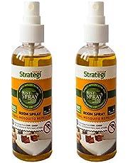 Strategi Herbal Justspray Mosquito Repellent Room Spray - 100 ml (Pack of 2)