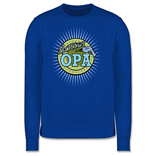Opa - Flotter Opa - Herren Premium Pullover Royalblau