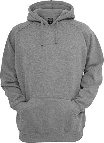 Urban Classics Sweatshirt, Hoodie Herren, Kapuzenpullover einfarbig (Pullover in vielen Farben erhältlich, ausgestattet mit Kapuze und Bauchtasche) Grau