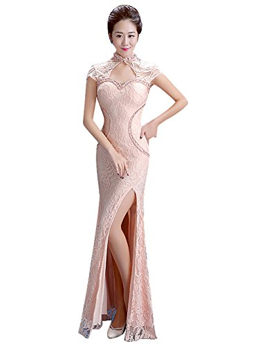 BeautyEmily Lace Offene Seiten HochAnsatz Nixe Ohne Arm Abendkleider ...