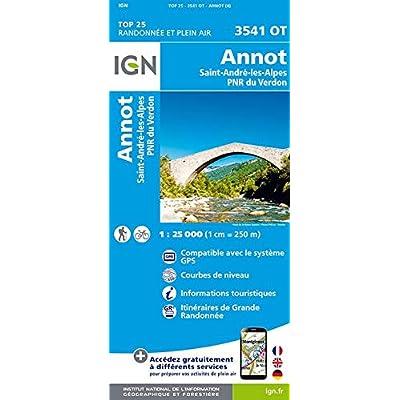 3541OT ANNOT, ST ANDRE-LES-ALPES PNR DU VERDON / RECTO