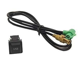 Câble USB interrupteur pour RNS315RCD510 VW MK6 Golf 6/Scirocco/Jetta