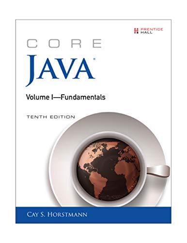 Horstmann, C: Core Java Volume I--Fundamentals: 1