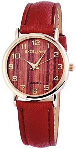 Klassische Excellanc Armbanduhr Quartz Damenuhr im 70er Jahre Stil