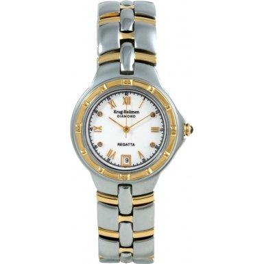 krug-baumen-2614dm-regatta-4-diamond-white-dial-two-tone-strap