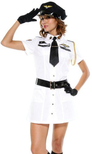 Adult Captain Mile High Costume - Medium/Large Fancy Dress (Mile High Kostüm)