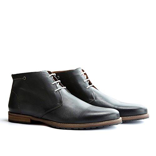 Travelin' Liverpool Leder Chukka Boots - Business Schuhe mit Schnürsenkel - Grau EU 40