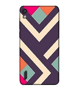PrintVisa Designer Back Case Cover for Huawei Ascend P7 (doughter my princess girl friend Designer Case black pattern Cell Cover royal Smartphone Cover cute sister )