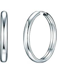 Rafaela Donata - Créoles - Argent sterling 925, bijoux en argent boucles d'oreilles - 60837002