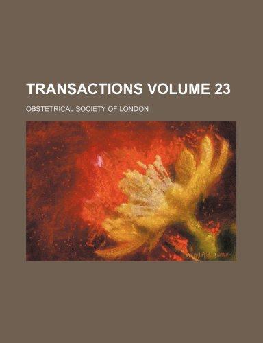 Transactions Volume 23