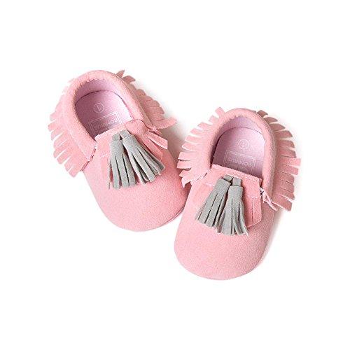 Itaar Babyschuhe Lauflernschuhe Quasten Komplementärfarbe Design mit weicher und rutschfester Sohle in 5 Farben für Babys 0-18 Monate #1