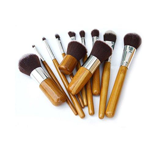 Pixnor Maquillage naturel professionnel Prime qualité brosses 11pcs cosmétiques maquillage pinceaux Set avec étui