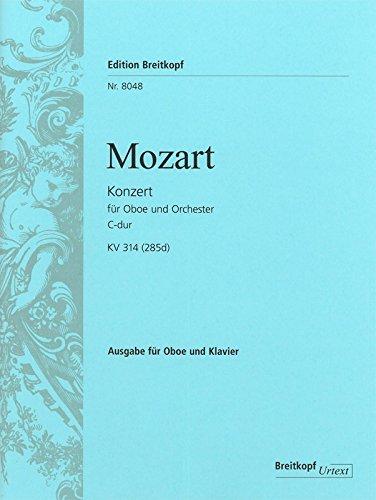 Oboenkonzert C-dur KV 314 (285d) Breitkopf Urtext - Ausgabe für Oboe,Klavier (EB 8048)