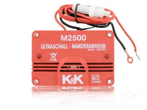 Preisvergleich Produktbild K&K Marderschutz Marderabwehr M2500 Ultraschallgerät 23 kHz 105 dB(A)