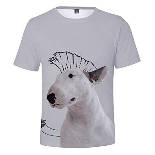 Männer Frühling Sommer Männer T-Shirts 3D Gedruckt Tier t-Shirt Kurzarm Lustige Design Casual Tops Tees Männlich,3D-Druck Cute Pet-1 Grey 3XL