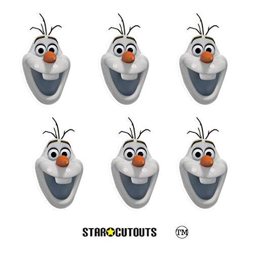 Frozen Familie Disney Kostüm - Star Cutouts SMP404 Offizielle Olaf Schneemann-Masken, perfekt für Fans, Frozen Partytüten und Dekorationen, mehrfarbig