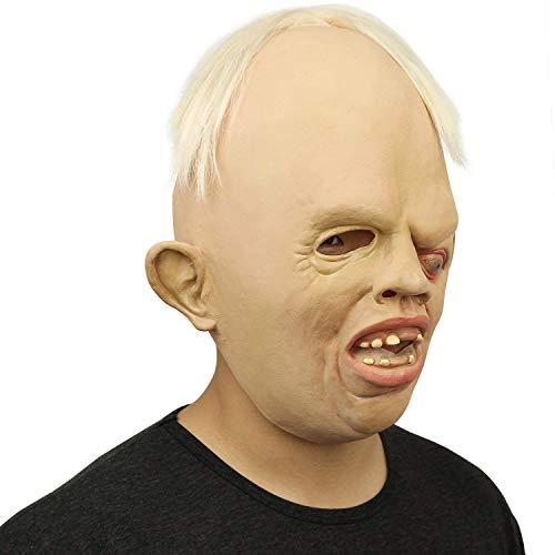 (Liying Halloween Sloth Kopf Masken Gesicht, Neuheit Latex Rubber Creepy Horror Goonies Sloth Kopf Masken Gesicht Für Halloween-Kostüm-Party Schrecklich)