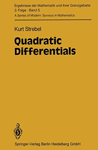Quadratic Differentials (Ergebnisse der Mathematik und ihrer Grenzgebiete. 3. Folge / A Series of Modern Surveys in Mathematics, Band 5)