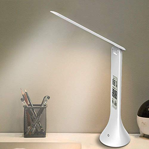 XIAOKOA Lámpara de mesa LED, estudio de protección ocular Lámpara de lectura con luz nocturna y brillo...