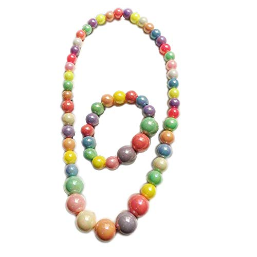 Kinder-Halskette, Armband Set, bunt, für Partys und Kostüme