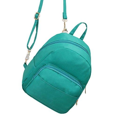 Longra Donna Sacchetto di spalla impermeabile del nylon mini Verde