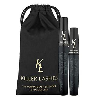 KL Killer Lashes Ultimate Fiber Lash Extender y máscara de pestañas | Set de 9 ml y 6 ml | 3D Moonstruck Black – Edición limitada – con estuche de viaje | Alcanzar pestañas asesinas ahora
