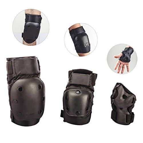Tera Protezioni set 6 pezzi protezione polso ginocchiere e paragomiti per Sport skateboard e invernali quali sci alpinismo invernale in bicicletta
