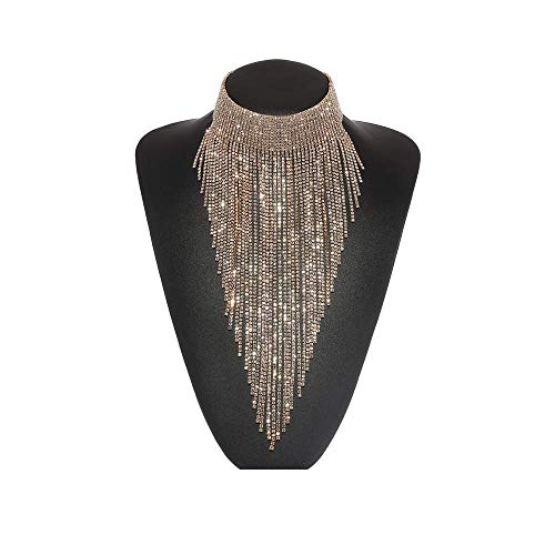 Holylove Damen Statement Halskette Gold, Costume Halskette für Damen Neuheit Mode Schmuck 1 Pc mit Geschenkbox- HLN023 Gold