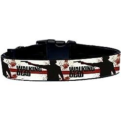 The Walking Dead D Collar Perro Hecho a Mano Talla XL sin Correa Dog Collar HandMade