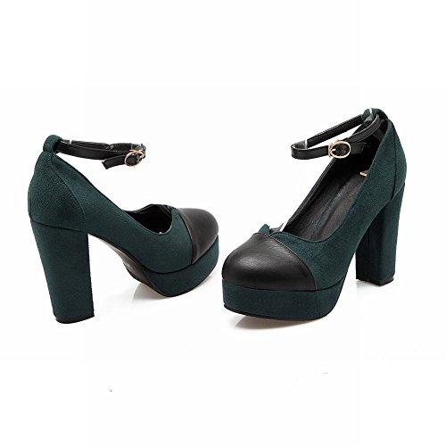 Misssasa Femmes Chaussures À Talons Chaussures Vert Foncé
