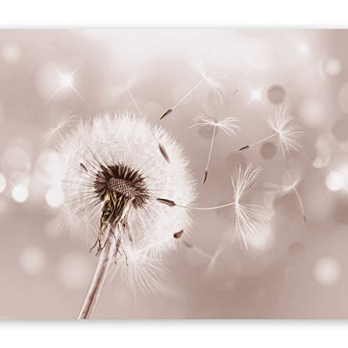 murando - Fototapete Pusteblumen 400x280 cm - Vlies Tapete - Moderne Wanddeko - Design Tapete - Wandtapete - Wand Dekoration - Pusteblume Blumen Natur bokeh Blitz vintage beige b-C-0072-a-c