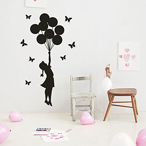 Wandaufkleber Der Ballon Mädchen Abnehmbare Art Vinyl Wandbild Home Room Decor Wandaufkleber hausgarten küche zubehör dekorative aufkleber wandbilder