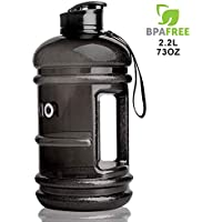 PANKIO 2.2 Litre Large Water Bottle   Sport Big Water Bottle   Safe & BPA Free   Durable & Extra Strong Gym Water Bottle   Large Half Gallon Water Jug, Ideal for Gym, Dieting, Bodybuilding, Outdoor Sports, Hiking & Office