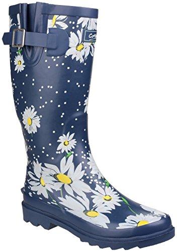 Cotswold Donna Burghley Stivali Da Pioggia Da Infilare Impermeabili Scarpe Margherite
