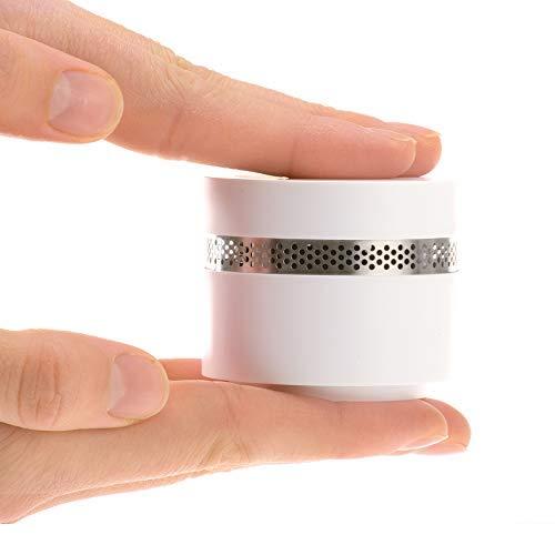 4smile Mini Rauchmelder Design 1 Stück - Feuermelder optisch schön, extra-klein und dennoch sicher gemäß DIN EN 14604 - Brandmelder mit 10 Jahres Batterie, kein Batteriewechsel nötig