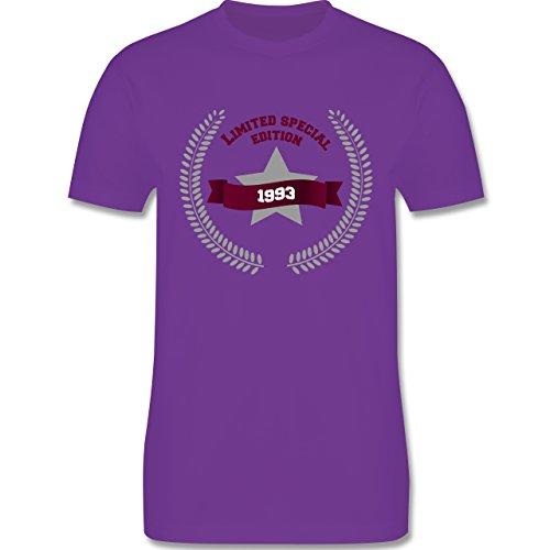 Shirtracer Geburtstag - 1993 Limited Special Edition - Herren T-Shirt Rundhals Lila