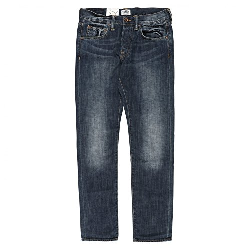 Edwin Denim ED-55 Relaxed Tapered Jeans - Blurred Wash Dark Blue Denim