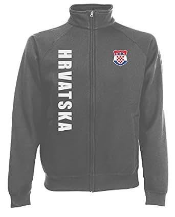 Kroatien EM 2016 Hrvatska Sweatjacke Jacke Trikot Wunschname Wunschnummer